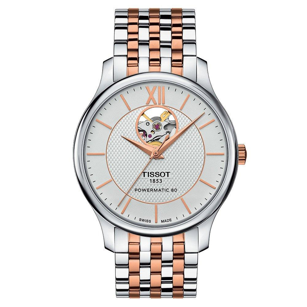 Tissot Tradition Powermatic 80 Open Heart Two Colour Men's Watch
