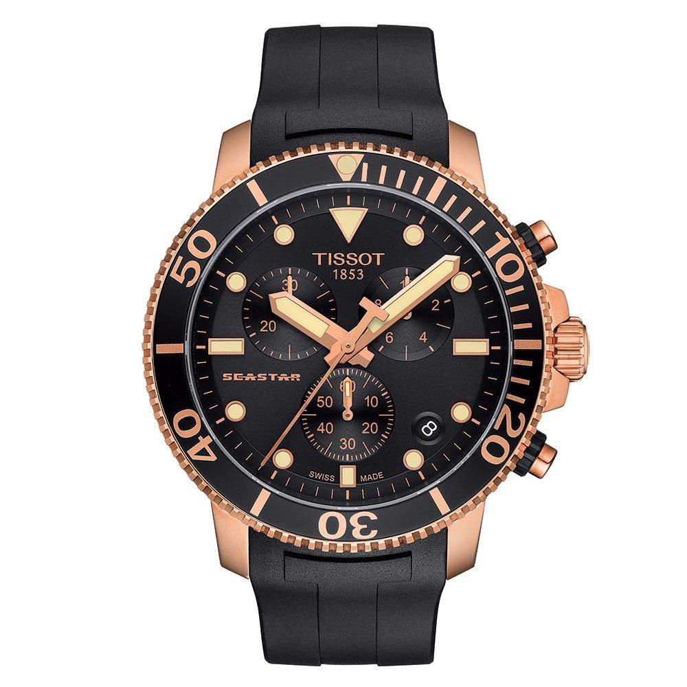 Tissot Heritage Seastar 1000 Rose Gold PVD Chronograph Men's Watch