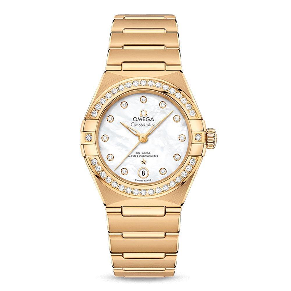 OMEGA Constellation Manhattan 18ct Gold Automatic Diamond Ladies Watch