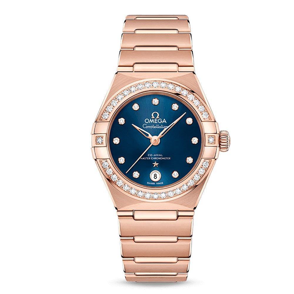 OMEGA Constellation Manhattan 18ct Sedna Gold Automatic Chronometer Diamond Ladies Watch