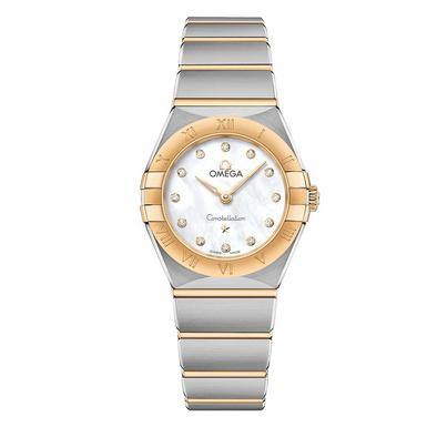 OMEGA Constellation Manhattan 18ct Gold and Steel Diamond Ladies Watch