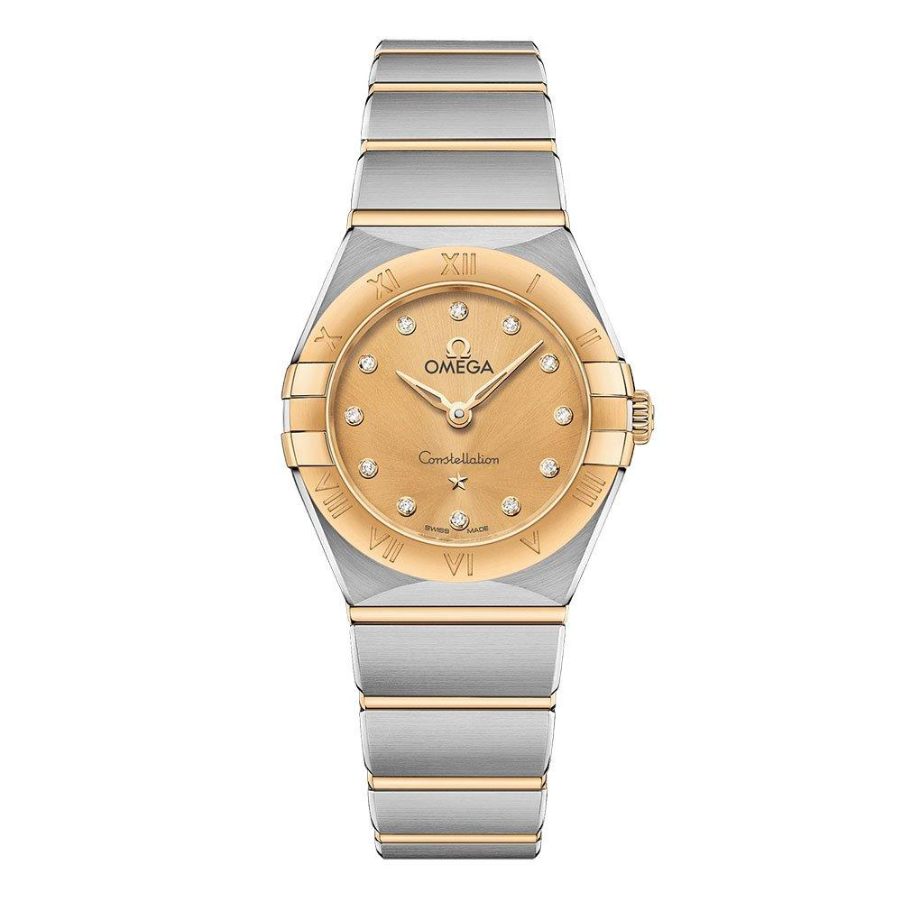 OMEGA Constellation Manhattan Steel and 18ct Gold Diamond Ladies Watch