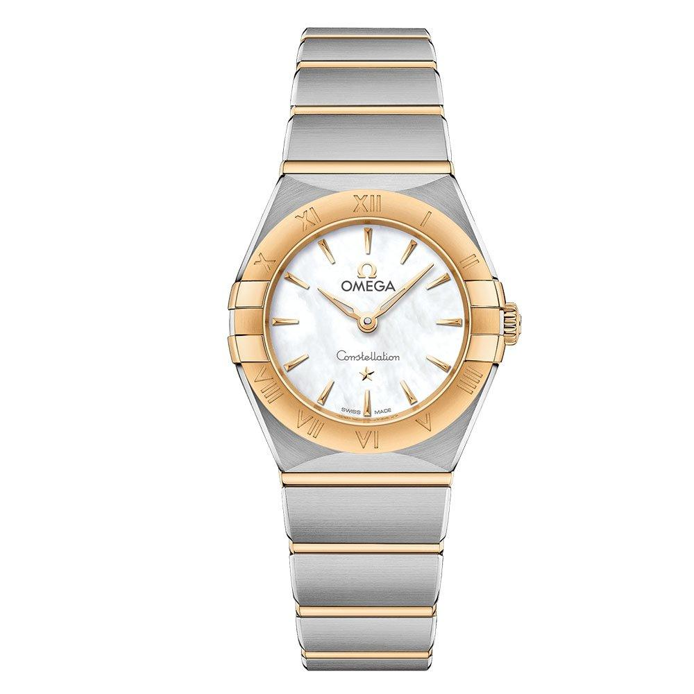 OMEGA Constellation Manhattan Steel and 18ct Gold Ladies Watch