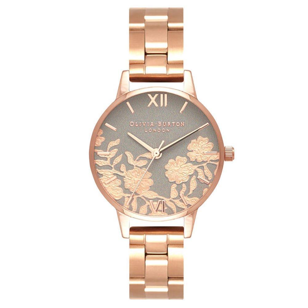 Olivia Burton Lace Detail Rose Gold Tone Ladies Watch