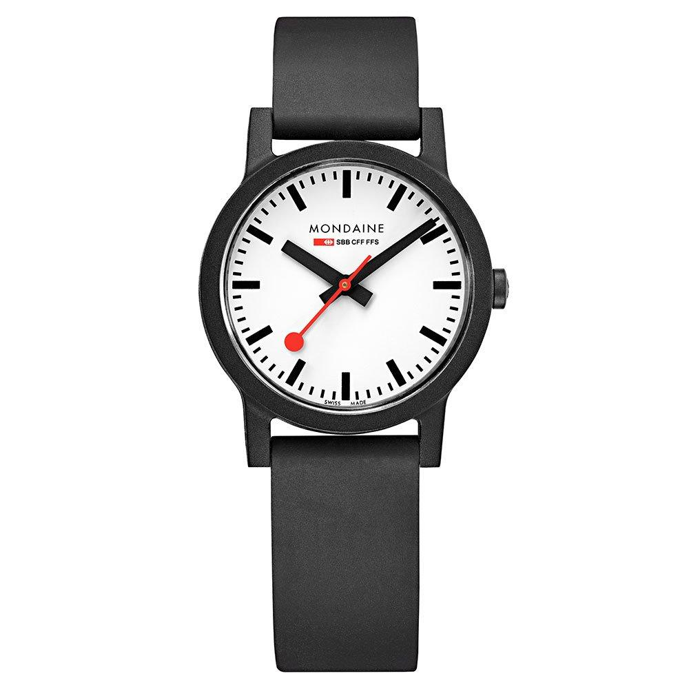 Mondaine Essence Black Rubber Ladies Watch