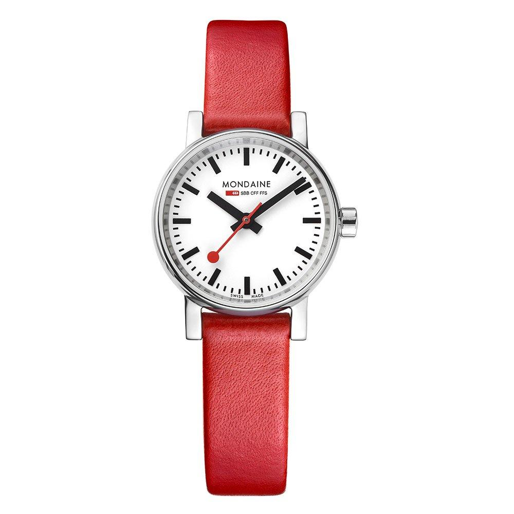 Mondaine Evo2 Petite Red Ladies Watch