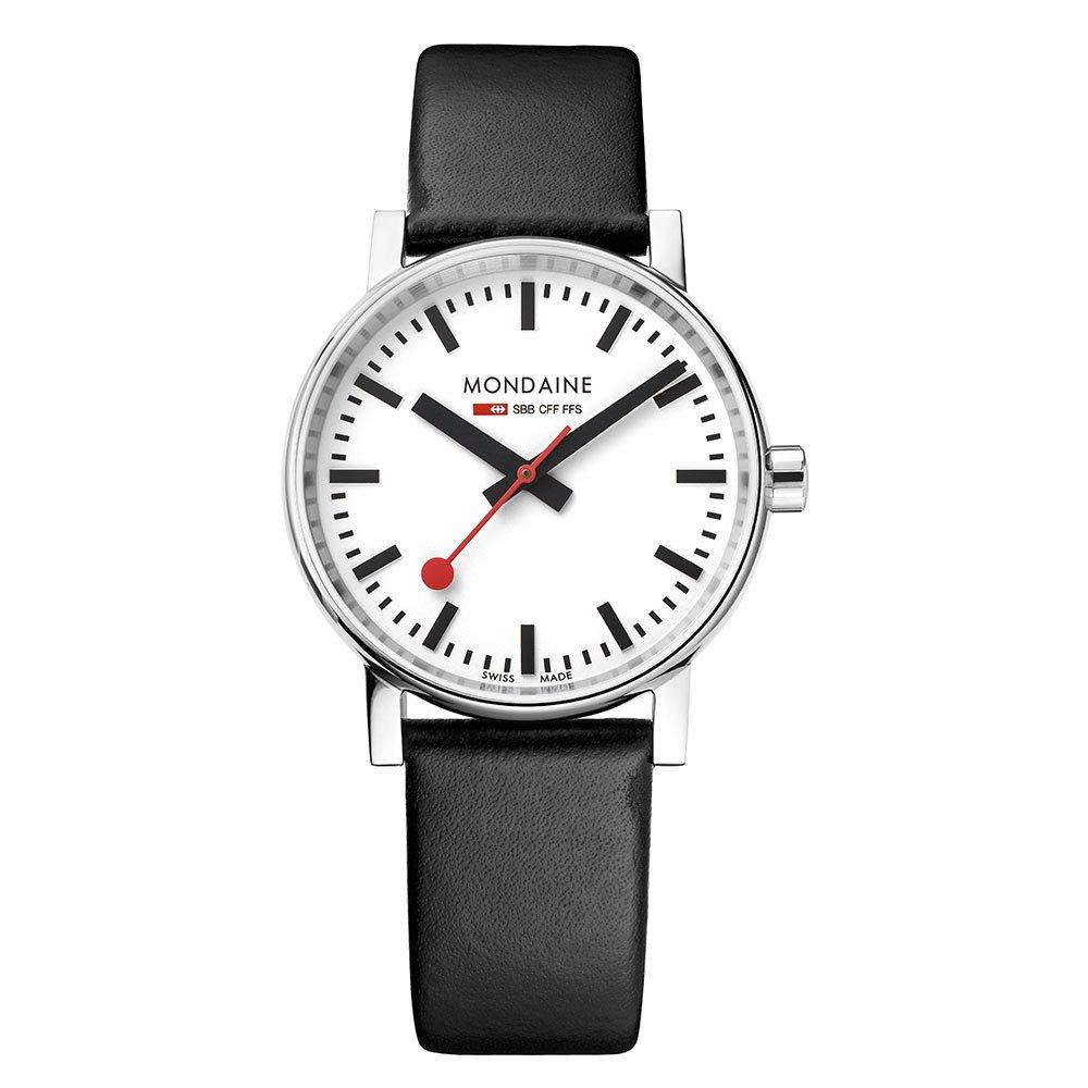 Mondaine Evo2 Black Leather Watch