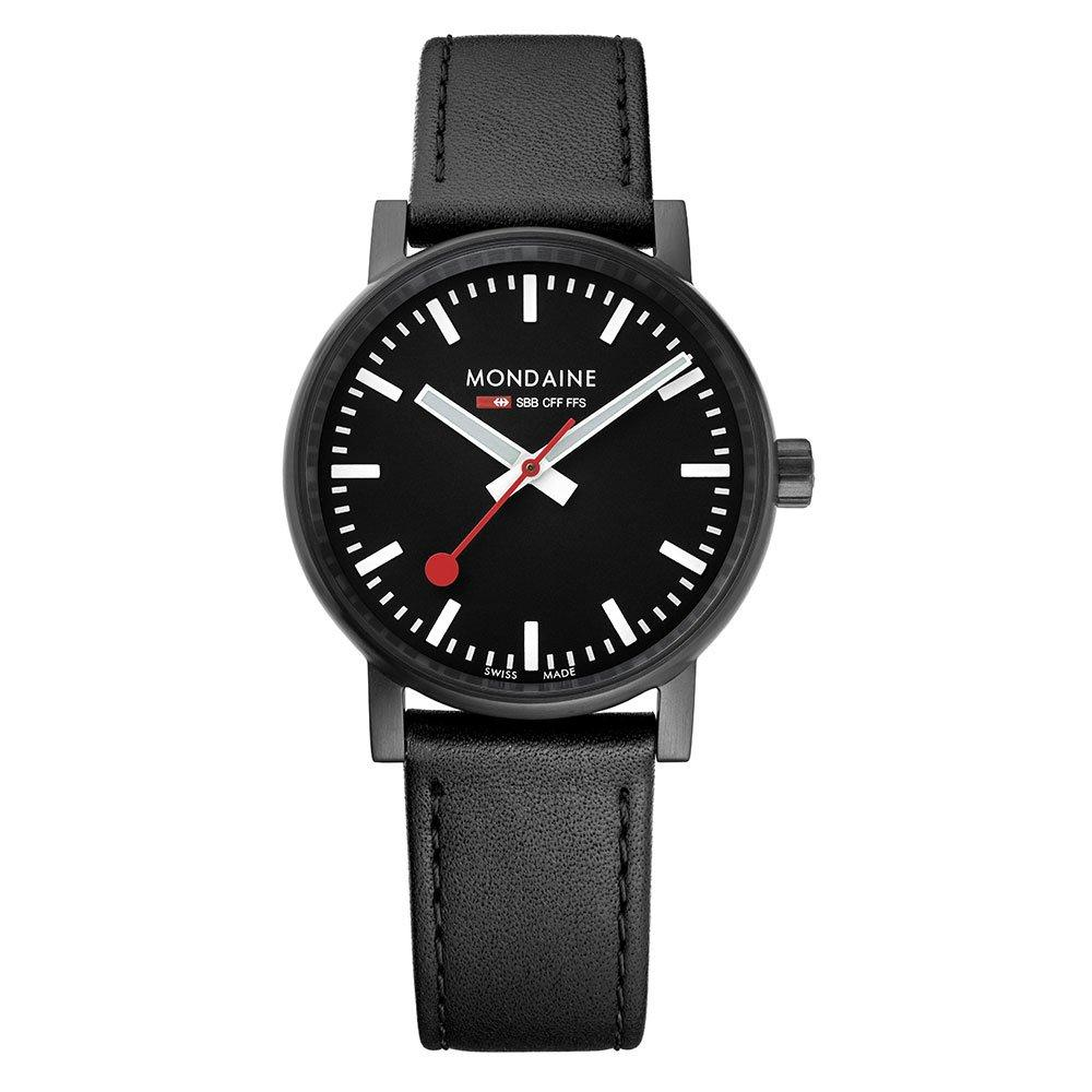 Mondaine Evo2 Black Ion Plated Watch