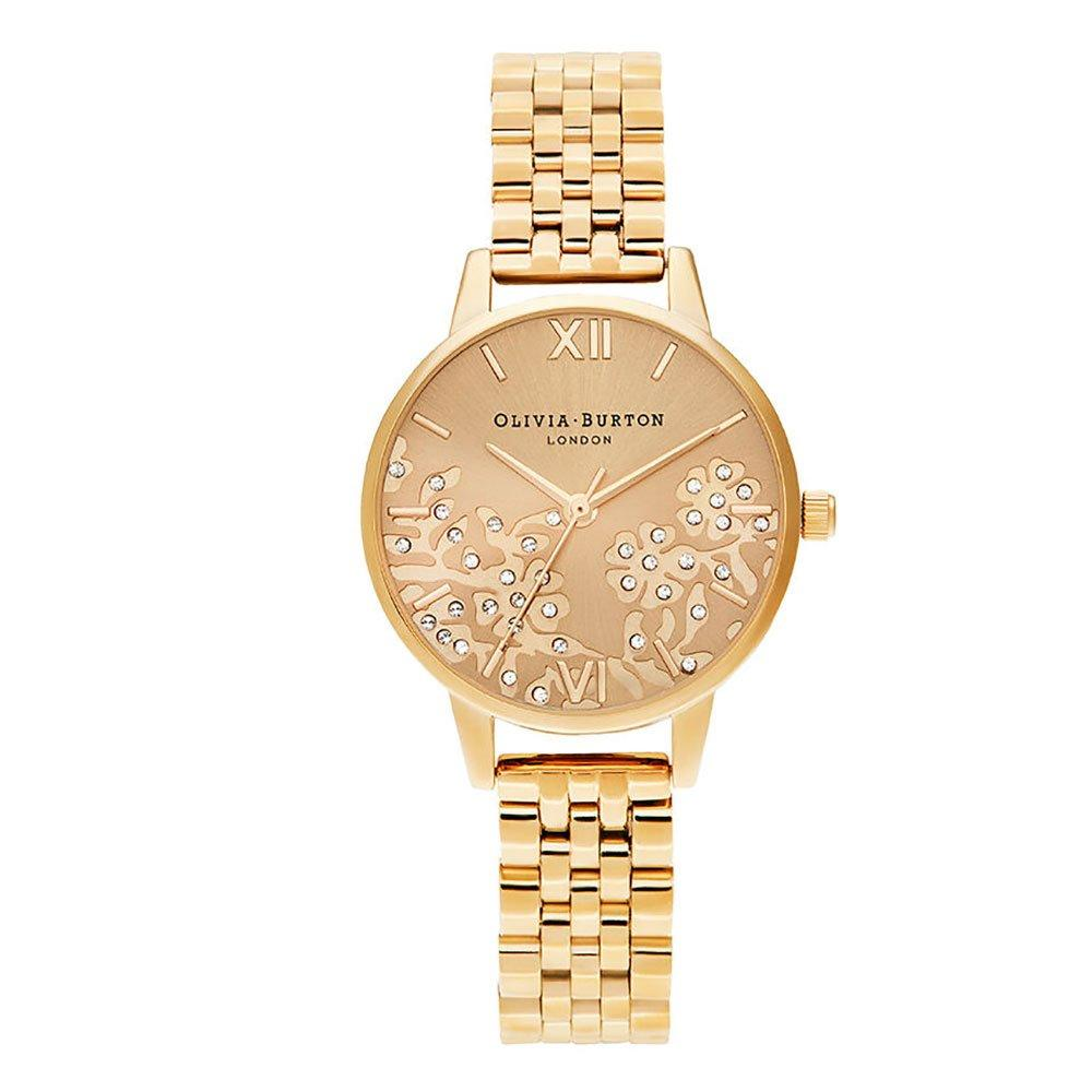 Olivia Burton Bejewelled Lace Gold Plated Ladies Watch