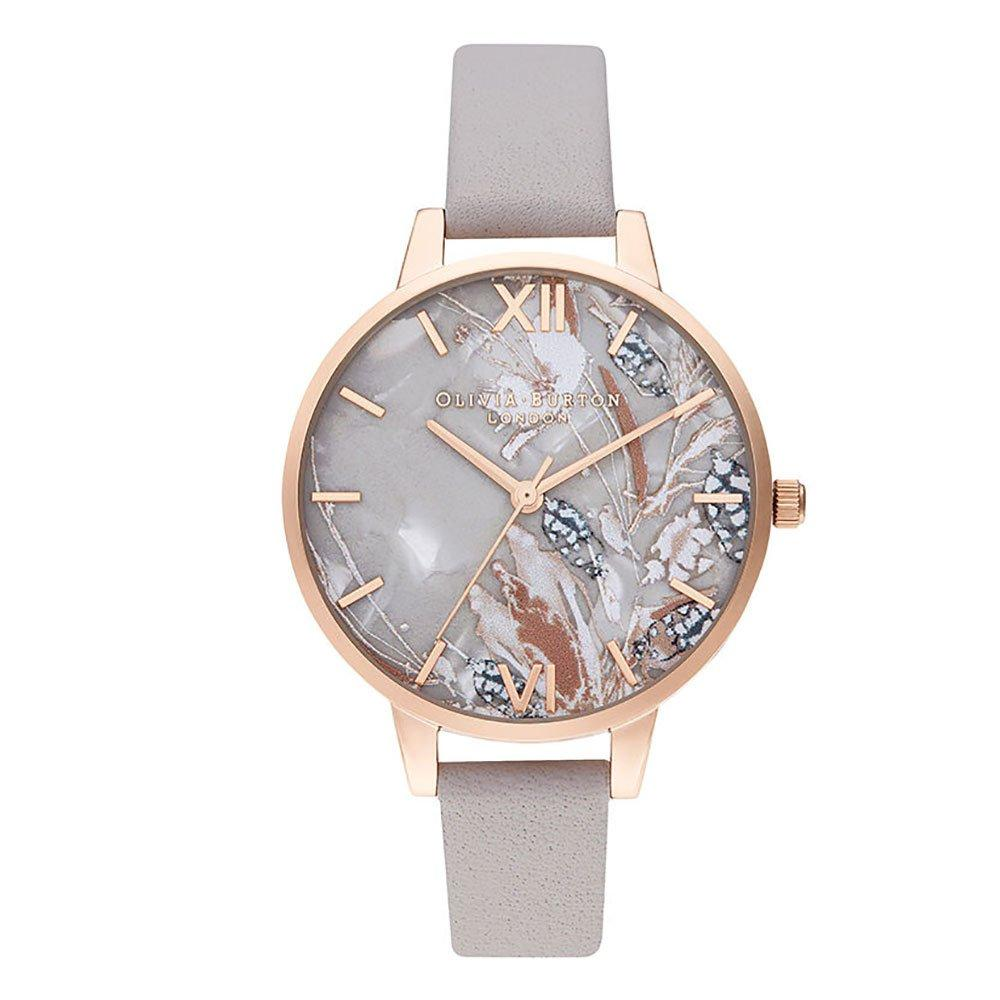 Olivia Burton Abstract Floral Rose Gold Tone Ladies Watch