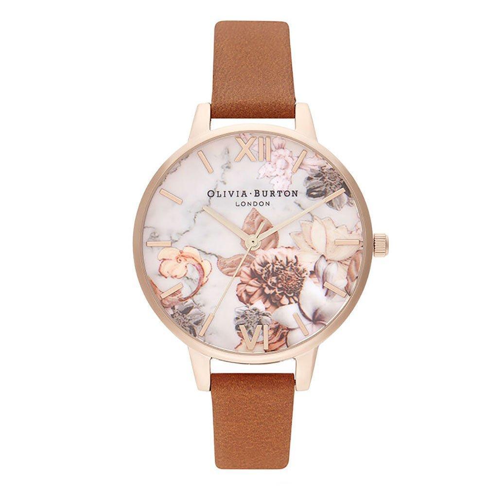Olivia Burton Marble Florals Gold Tone Ladies Watch