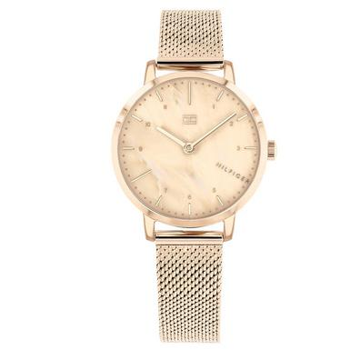 Tommy Hilfiger Rose Gold Plated Mesh Ladies Watch