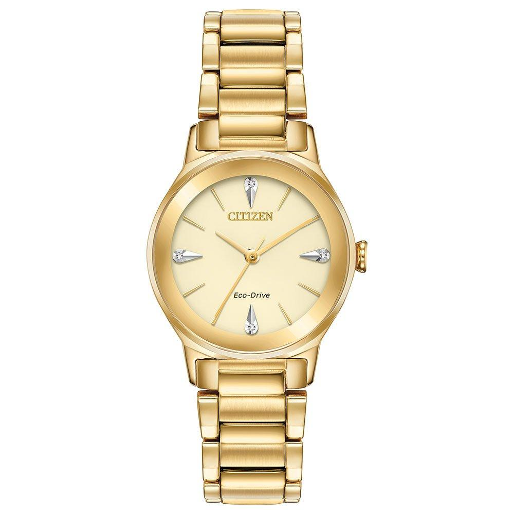 Citizen Eco-Drive Axiom Gold Tone Diamond Ladies Watch
