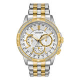Citizen Eco-Drive Calendrier Diamond World Timer Men's Watch
