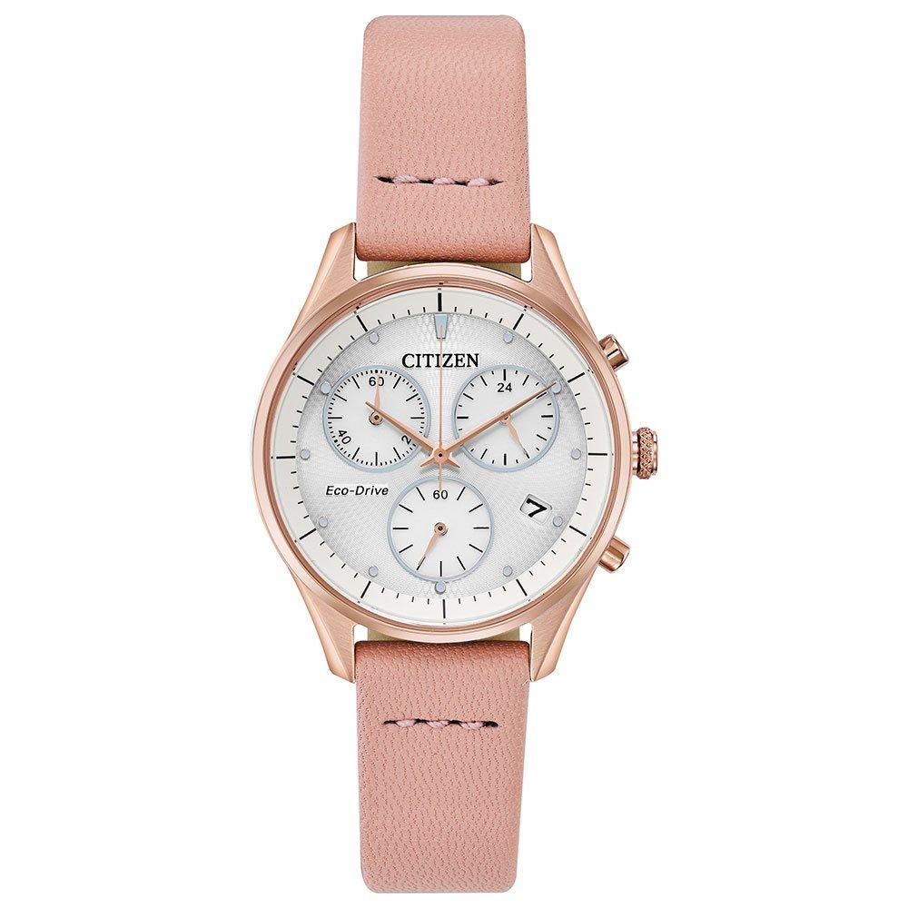 Citizen Eco-Drive Silhouette Rose Gold Tone Chronograph Ladies Watch