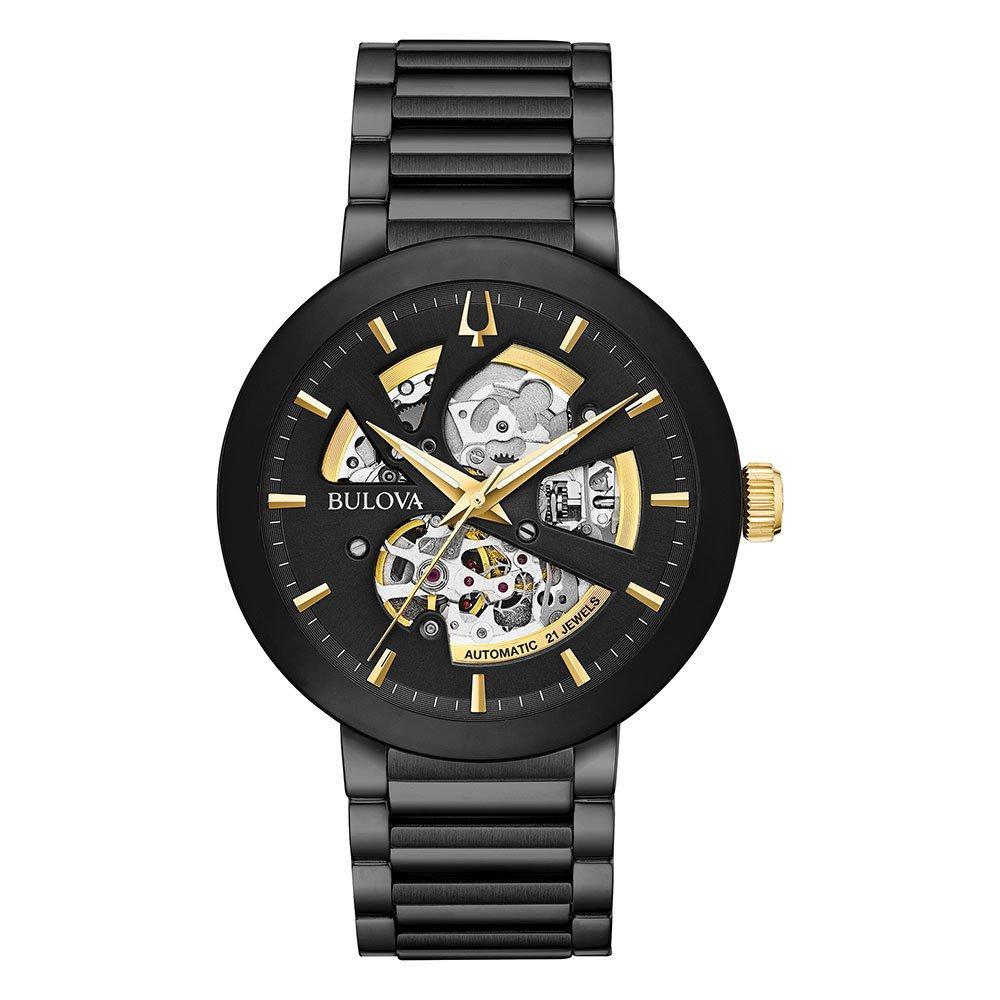 Bulova Futuro Black Ion Plated Automatic Men's Watch