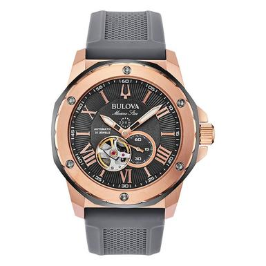 Bulova Marine Star Rose Gold Plated Automatic Men's Watch
