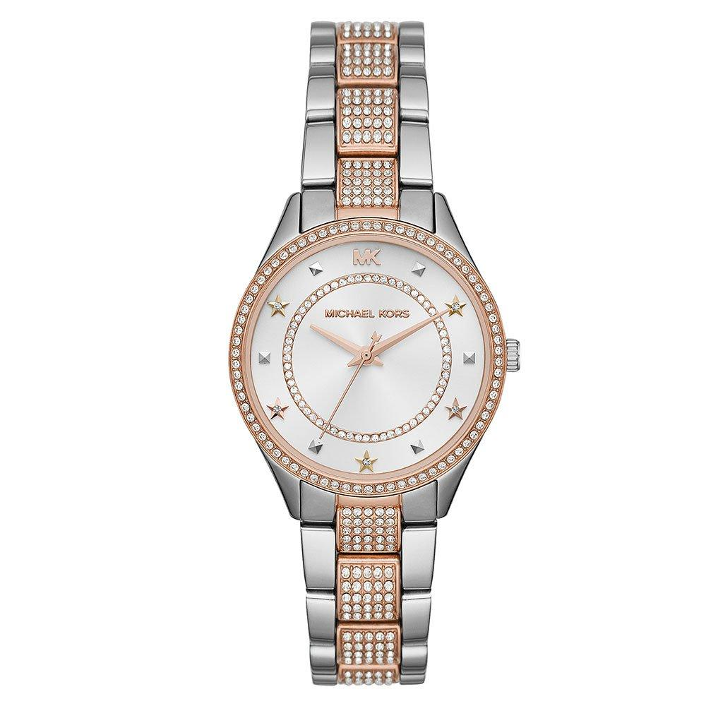 Michael Kors Mini Lauryn Two Colour Crystal Ladies Watch