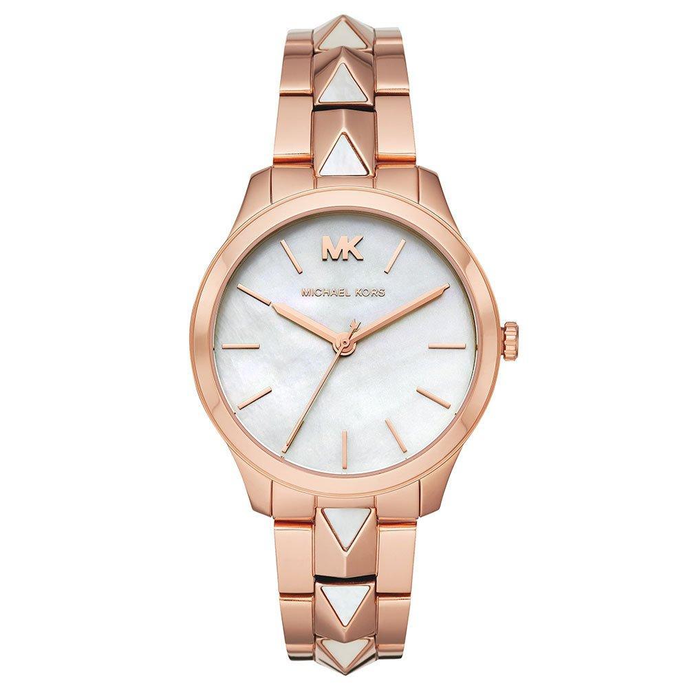 Michael Kors Runway Mercer Rose Gold Tone and Pearl Ladies Watch