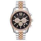 Michael Kors Lexington Tri Tone Chronograph Men's Watch