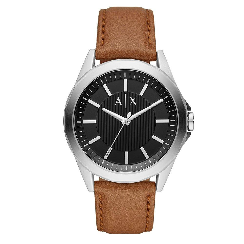 Armani Exchange Brown Leather Men's Watch