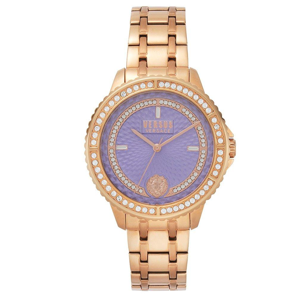 Versus by Versace Montorgueil Rose Gold Tone Crystal Ladies Watch