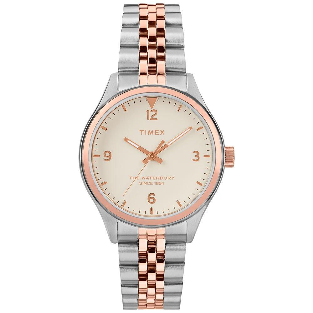 Timex Waterbury Traditional Rose Gold Tone and Stainless Steel Ladies Watch