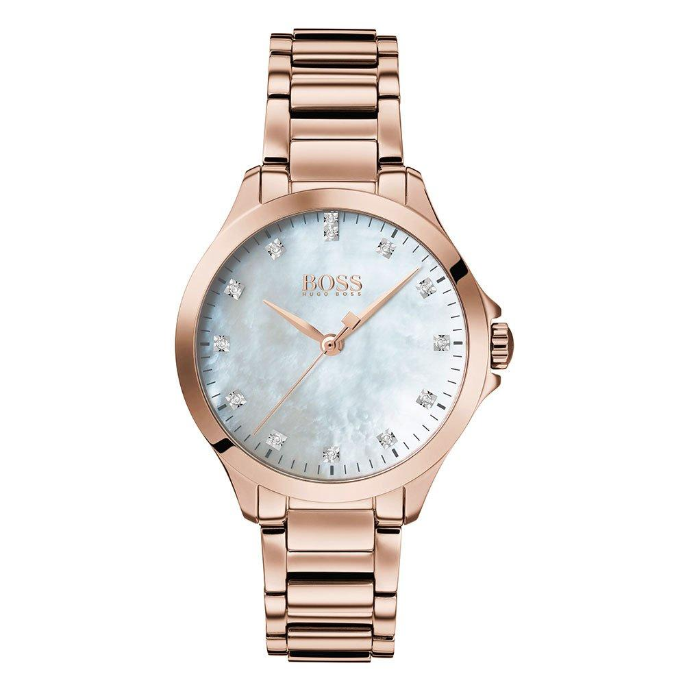Hugo Boss Diamonds For Her Rose Gold Plated Ladies Watch