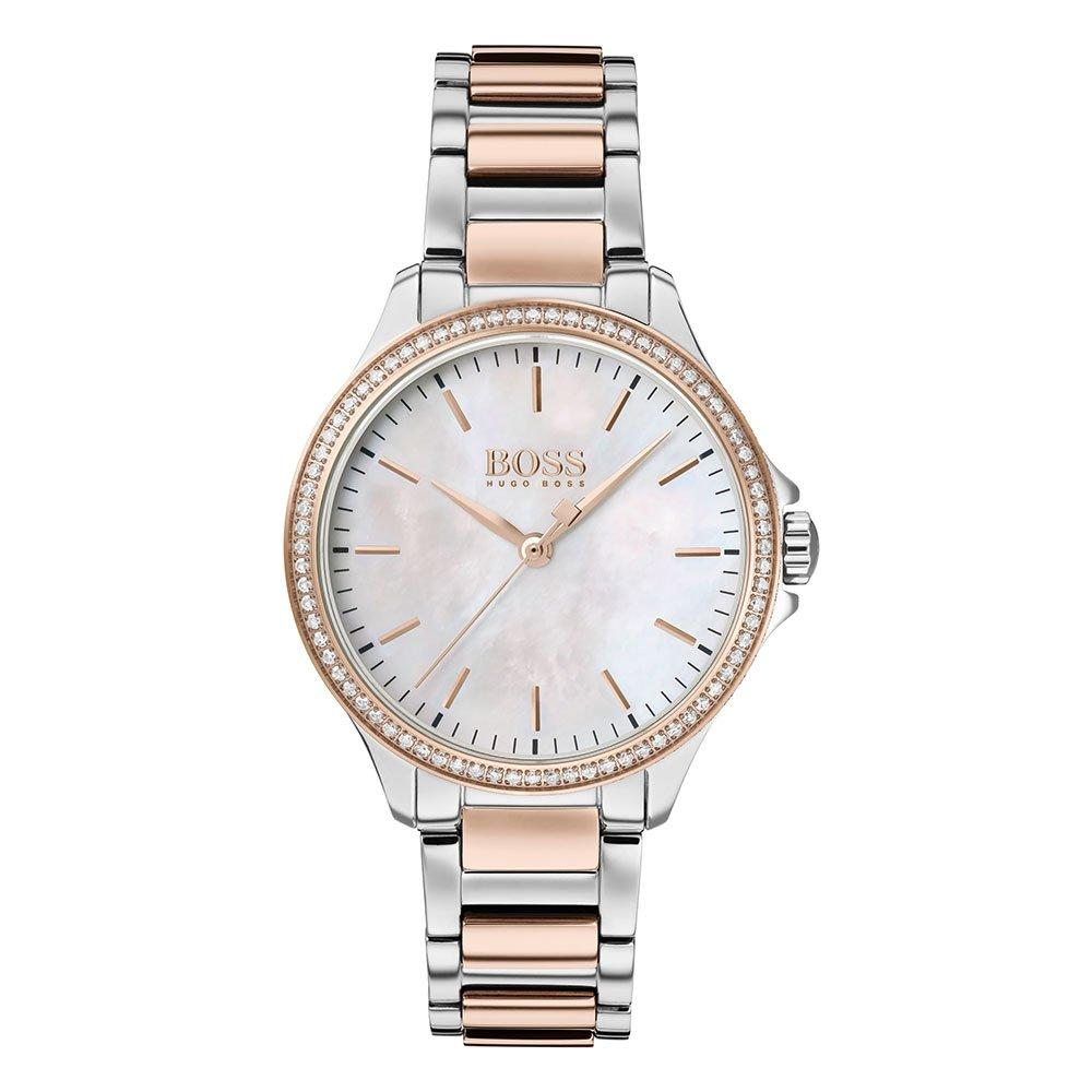 Hugo Boss Diamonds For Her Steel And Rose Gold Ladies Watch