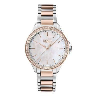BOSS Diamonds For Her Steel And Rose Gold Ladies Watch