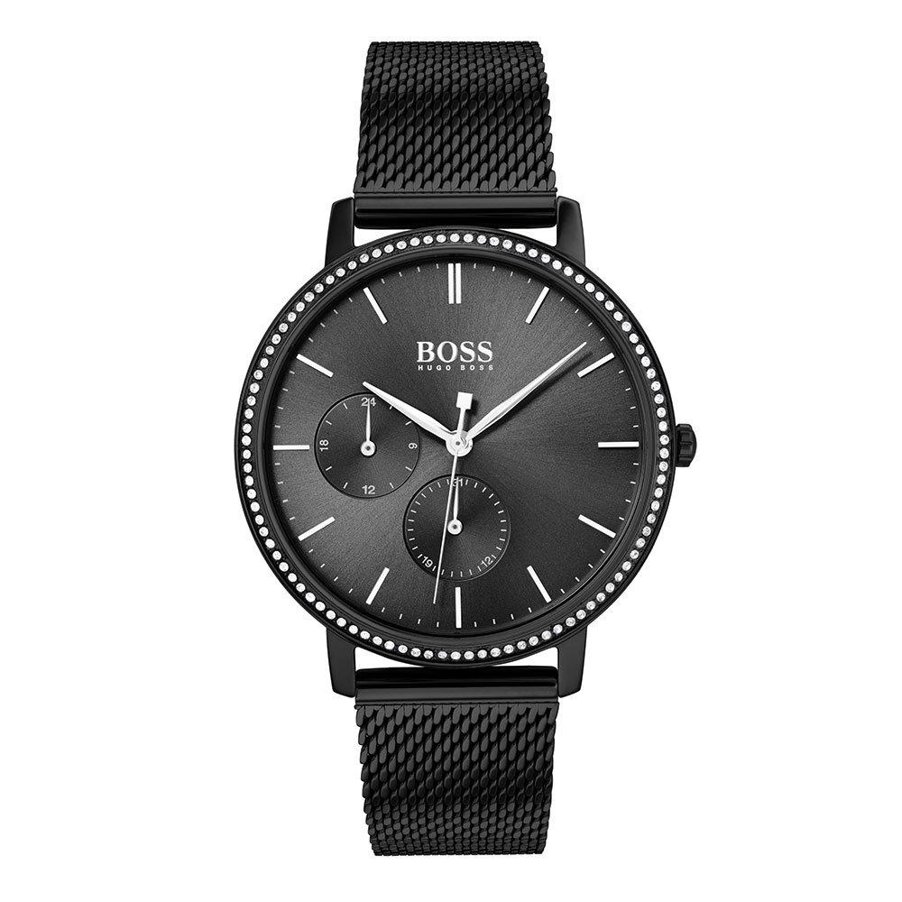 Hugo Boss Infinity Black Mesh Ladies Watch