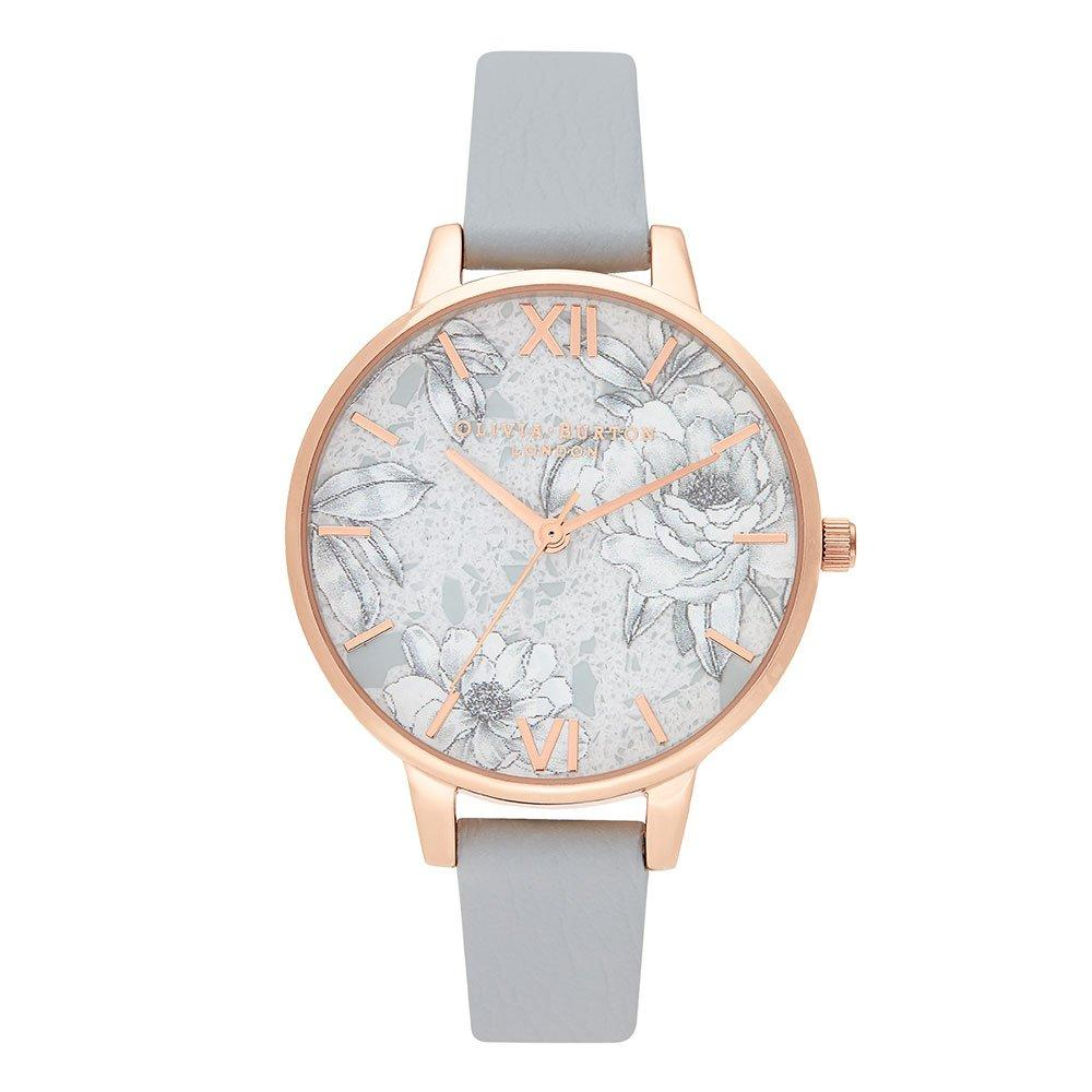 Olivia Burton Terrazzo Floral Rose Gold Plated Ladies Watch