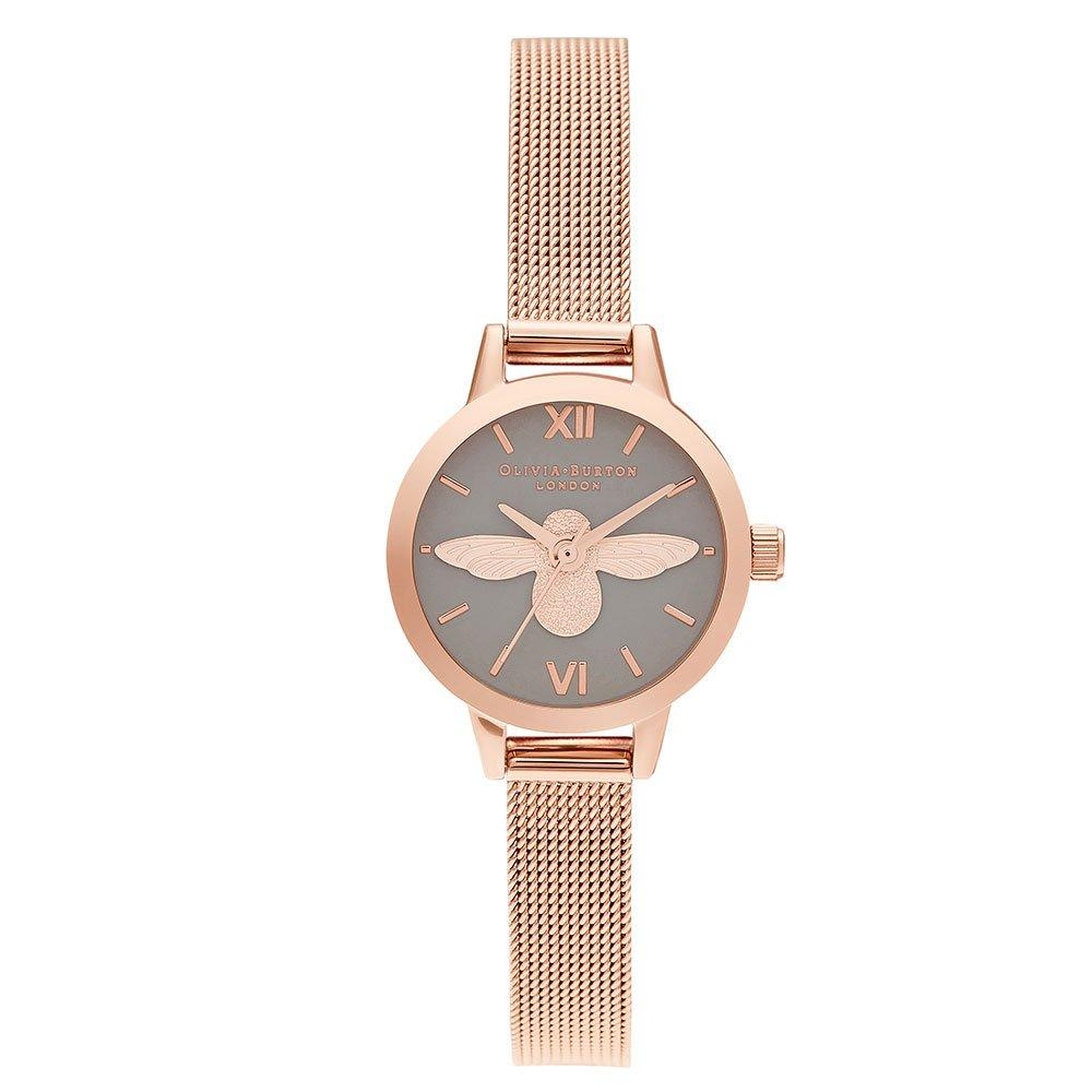 Olivia Burton Mini Dial 3D Bee Rose Gold Tone Ladies Watch