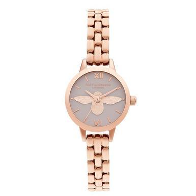 Olivia Burton Mini 3D Bee Rose Gold Plated Ladies Watch