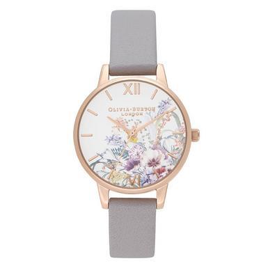 Olivia Burton Enchanted Garden Rose Gold Plated Ladies Watch