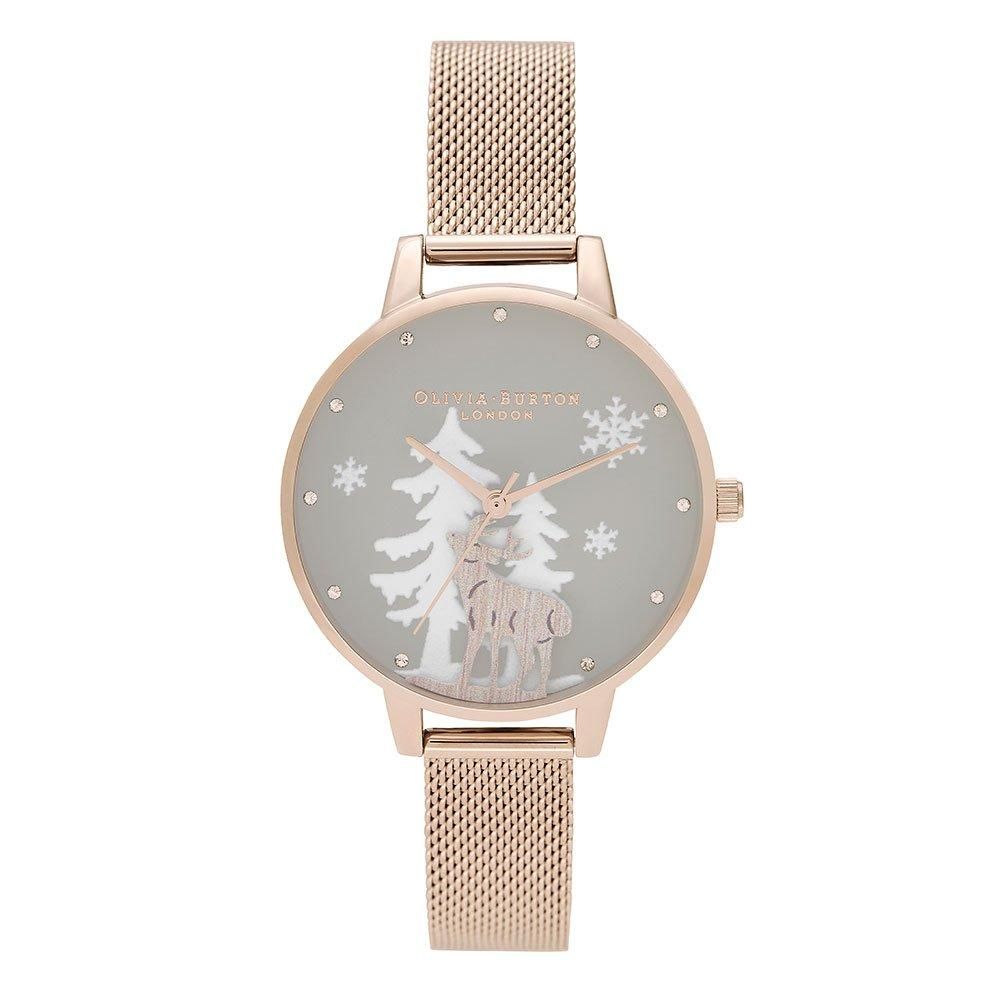 Olivia Burton Winter Wonderland Rose Gold Tone Ladies Watch