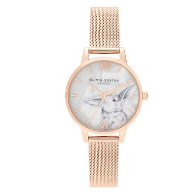 Olivia Burton Winter Wonderland Bunny Rose Gold Tone Ladies Watch