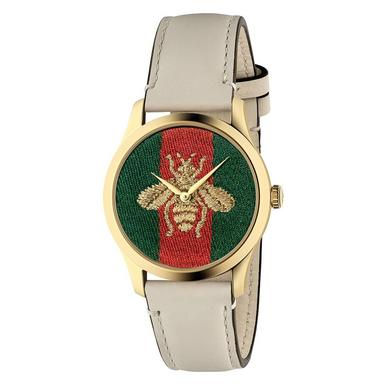 Gucci G-Timeless Bee PVD Gold Ladies Watch