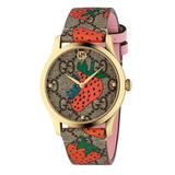 Gucci G-Timeless Contemporary Strawberry Ladies Watch