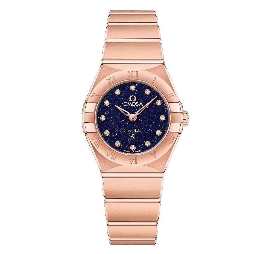 OMEGA Constellation Manhattan 18ct Rose Gold Diamond Ladies Watch
