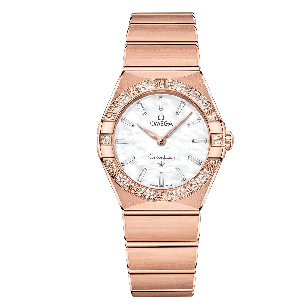 OMEGA Constellation Manhattan 18ct Sedna Gold Diamond Ladies Watch