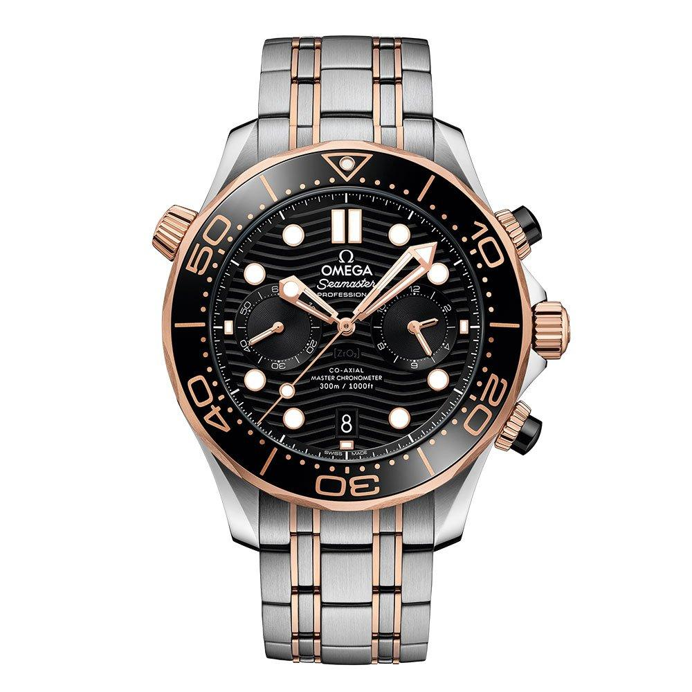 OMEGA Seamaster Diver 300m Steel and 18ct Sedna Gold Automatic Chronograph Men's Watch