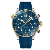 OMEGA Seamaster Diver Gold Co-Axial Master Chronometer Chronograph Men's Watch