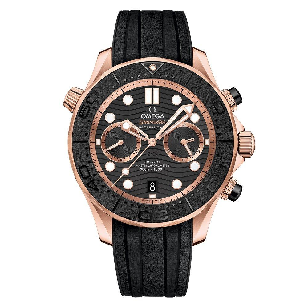 OMEGA Seamaster Diver Rose Gold Co-Axial Master Chronometer Chronograph Men's Watch