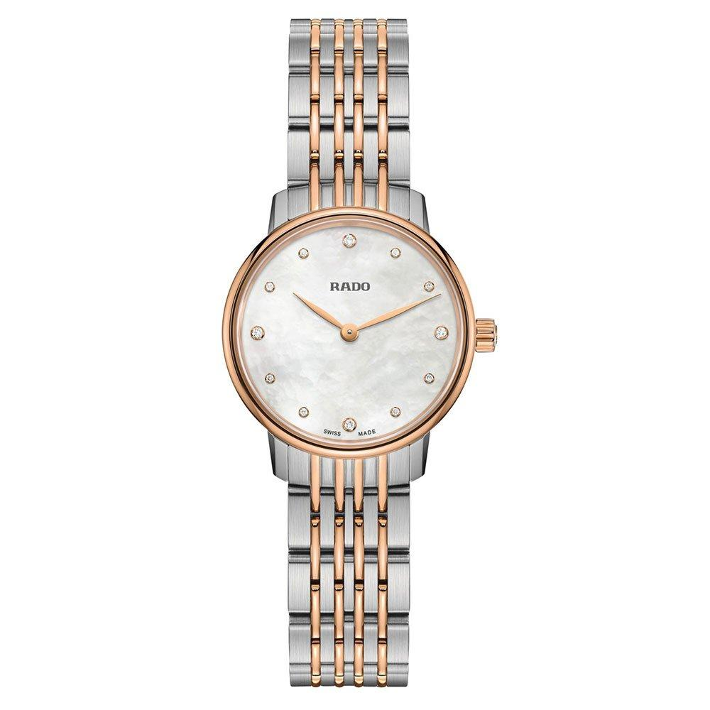 Rado Coupole Classic Rose Gold PVD and Steel Diamond Ladies Watch