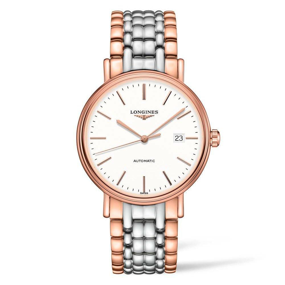 Longines Présence Steel and Rose Gold Automatic Men's Watch