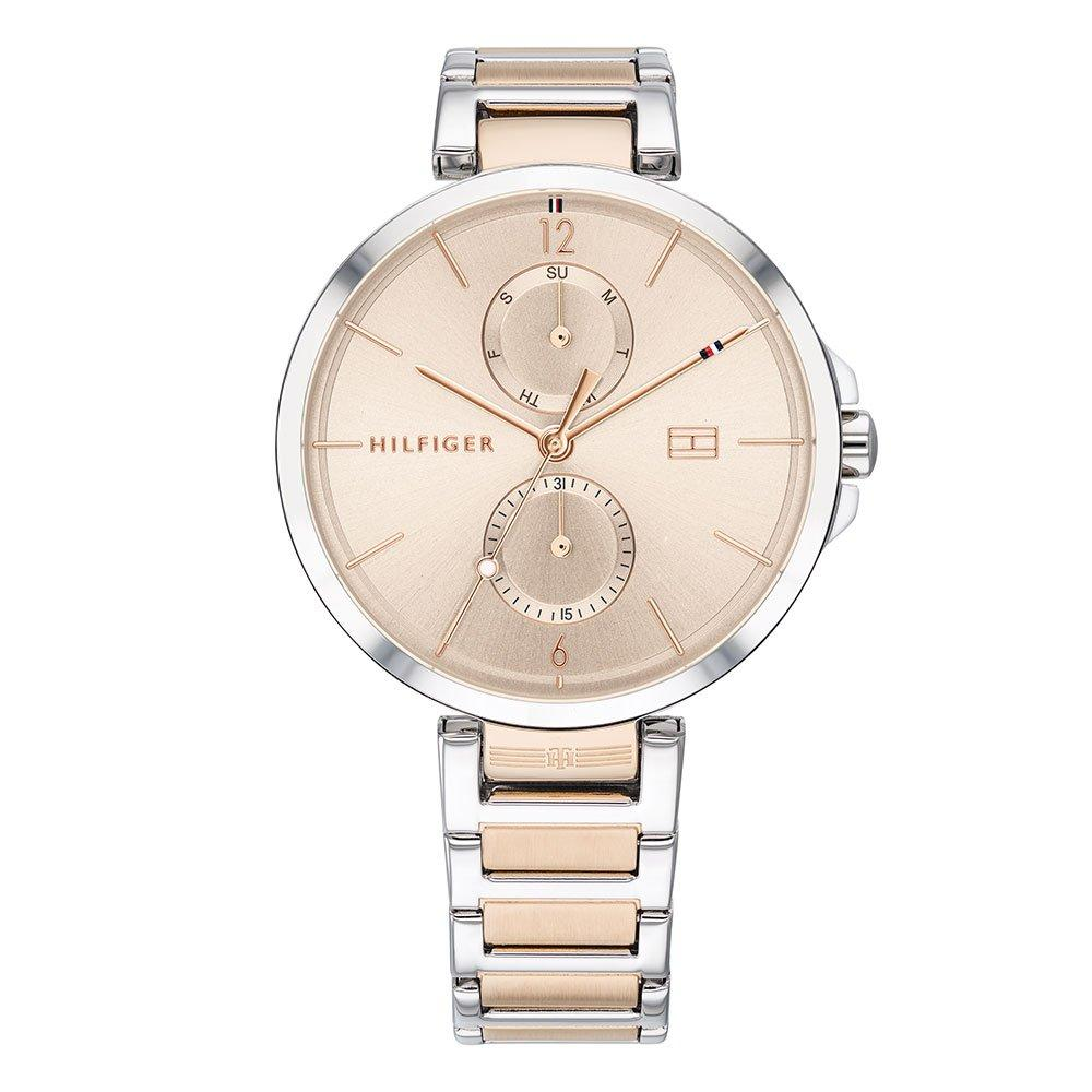 Tommy Hilfiger Steel And Rose Gold Tone Ladies Watch