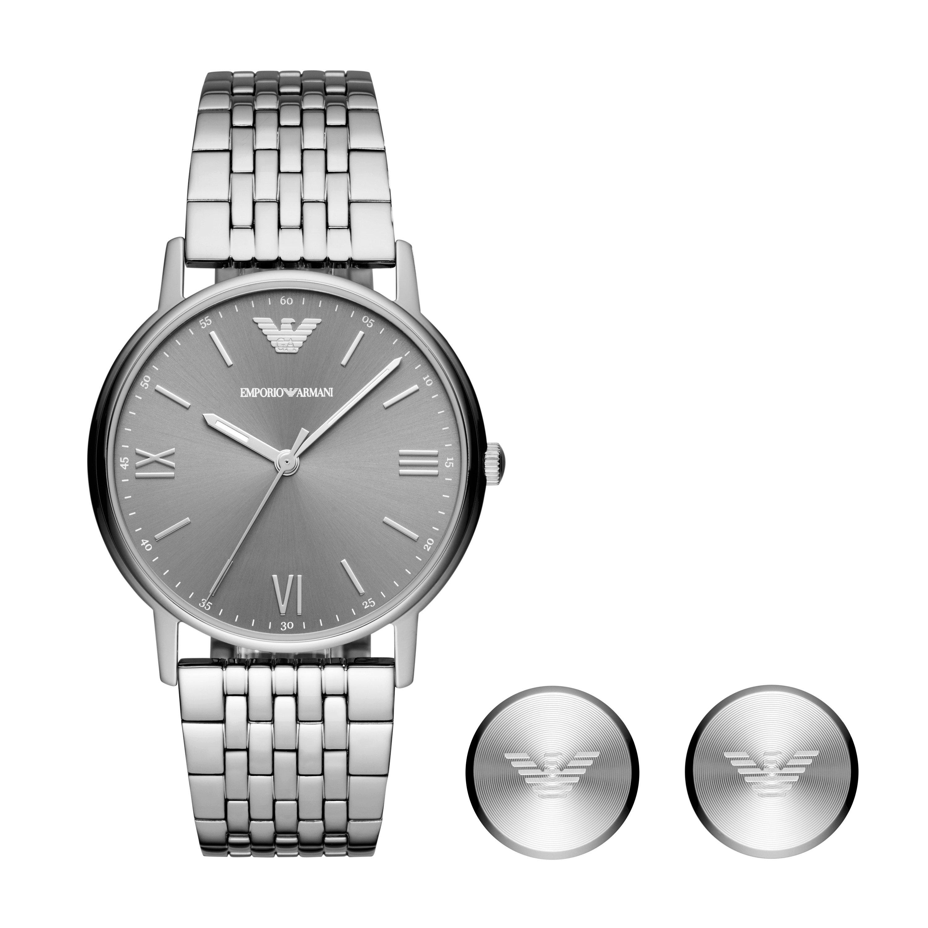 Emporio Armani Watch And Cufflink Men's Box Set