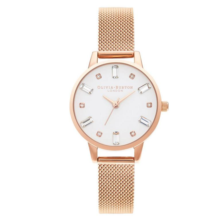 Olivia Burton Bejewelled Rose Gold Tone Ladies Watch