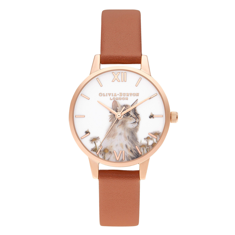 Olivia Burton Rose Gold Plated Cat Ladies Watch